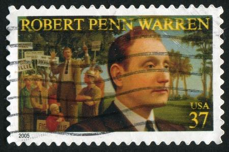 warren: UNITED STATES - CIRCA 2005: stamp printed by United states, shows Robert Penn Warren, circa 2005