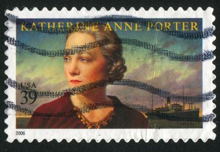katherine: UNITED STATES - CIRCA 2006: stamp printed by United states, shows Katherine Anne Porter, circa 2006