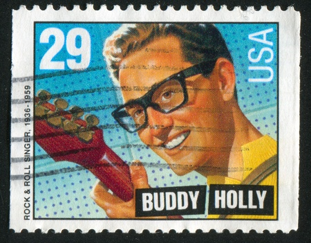 buddy: UNITED STATES - CIRCA 1993: stamp printed by United states, shows Buddy Holly, circa 1993 Editorial