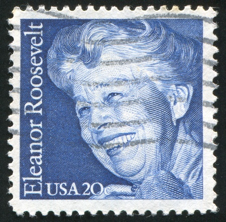 roosevelt: UNITED STATES - CIRCA 1984: stamp printed by United states, shows Eleanor Roosevelt, circa 1984 Editorial