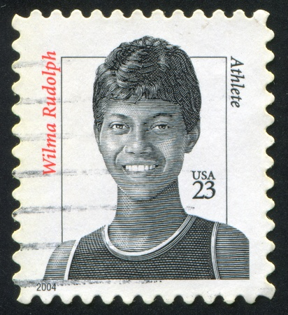 rudolph: UNITED STATES - CIRCA 2004: stamp printed by United states, shows Wilma Rudolph, Athlete, circa 2004