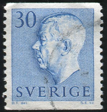 gustaf: SWEDEN - CIRCA 1961: stamp printed by Sweden, shows Gustaf VI Adolf, circa 1961. Editorial