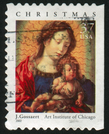 UNITED STATES - CIRCA 2002: stamp printed by United states, shows madonna, circa 2002 Stock Photo - 10286524