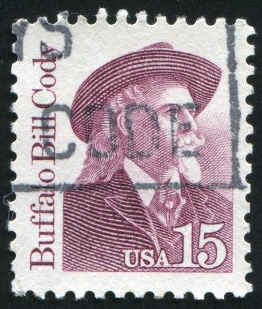 cody: UNITED STATES - CIRCA 1986: stamp printed by United states, shows Buffalo Bill Cody, circa 1986