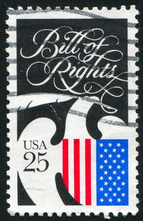 bill of rights: UNITED STATES - CIRCA 1989: stamp printed by United states, shows Bill of Rights, circa 1989