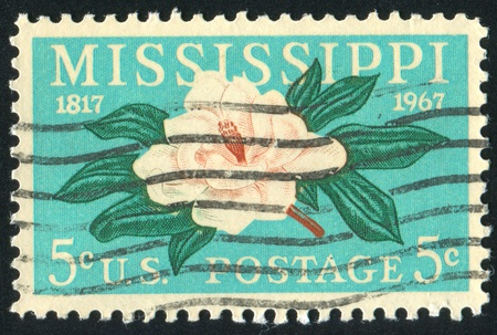 UNITED STATES - CIRCA 1967: stamp printed by United states, shows Magnolia, circa 1967 Stock Photo - 10299378