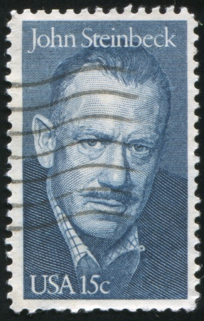 steinbeck: UNITED STATES - CIRCA 1979: stamp printed by United states, shows John Steinbeck, circa 1979