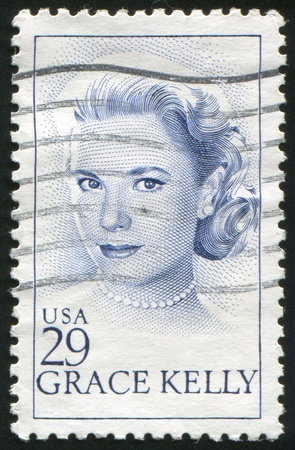 kelly: UNITED STATES - CIRCA 1993: stamp printed by United states, shows Grace Kelly, circa 1993