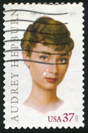 UNITED STATES - CIRCA 2003: stamp printed by United states, shows Audrey Hepburn, circa 2003 報道画像