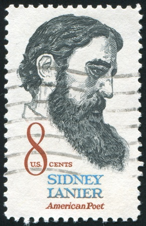 sidney: UNITED STATES - CIRCA 1971: stamp printed by United states, shows Sidney Lanier, circa 1971