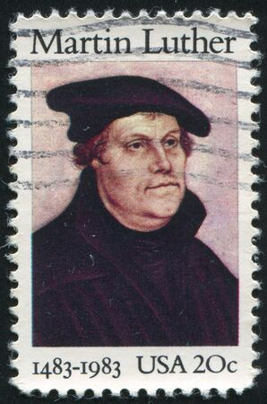UNITED STATES - CIRCA 1983: stamp printed by United states, shows Martin Luther, circa 1983