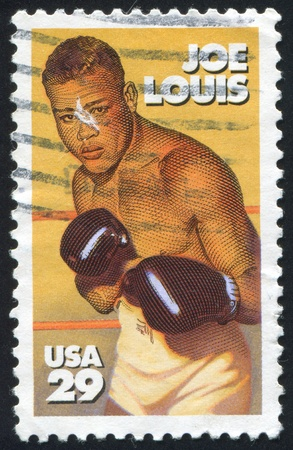 joe louis: UNITED STATES - CIRCA 1993: stamp printed by United states, shows Joe Louis, circa 1993