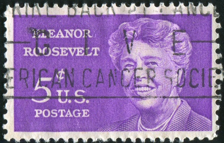 roosevelt: UNITED STATES - CIRCA 1963: stamp printed by United states, shows Eleanor Roosevelt, circa 1963