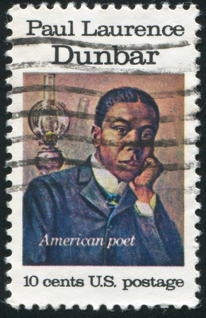 laurence: UNITED STATES - CIRCA 1975: stamp printed by United states, shows Paul Laurence, circa 1975