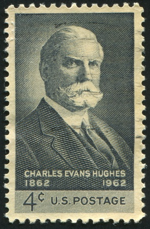 evans: UNITED STATES - CIRCA 1962: stamp printed by United states, shows Charles Evans Hughes, circa 1962 Editorial