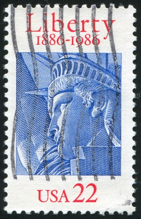 UNITED STATES - CIRCA 1986: stamp printed by United states, shows Statue of Liberty, circa 1986. Stock Photo - 10299354
