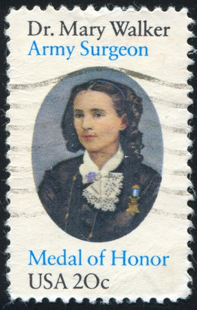 UNITED STATES - CIRCA 1982: stamp printed by United states, shows Mary Walker, circa 1982