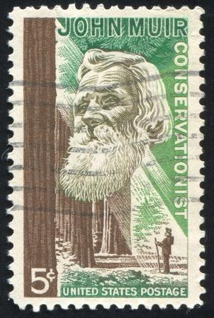 muir: UNITED STATES - CIRCA 1964: stamp printed by United states, shows John Muir, circa 1964