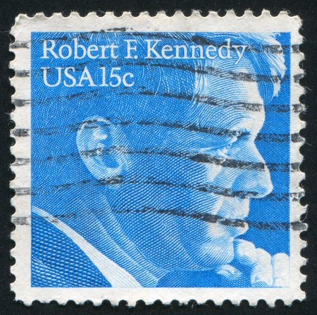 robert: UNITED STATES - CIRCA 1978: stamp printed by United states, shows Robert Kennedy, circa 1978