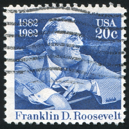 roosevelt: UNITED STATES - CIRCA 1982: stamp printed by United states, shows Franklin Delano Roosevelt, circa 1982 Editorial