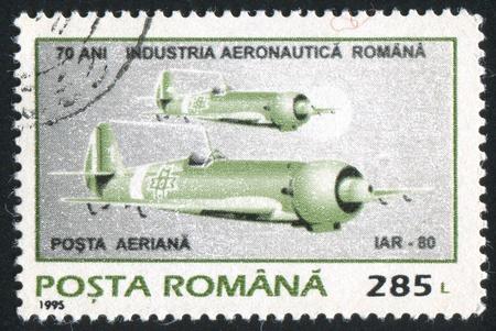 ROMANIA - CIRCA 1995: stamp printed by Romania, show plane, circa 1995. photo