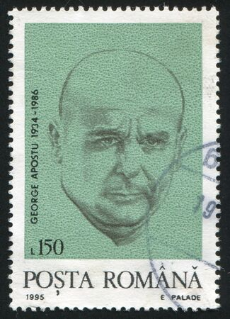 ROMANIA - CIRCA 1995: stamp printed by Romania, show George Apostu, sculptor, circa 1995. Stock Photo - 10317732