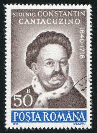 constantin: ROMANIA - CIRCA 1990: stamp printed by Romania, show Prince Constantin Cantacuzino, circa 1990.