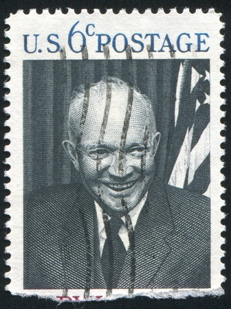 UNITED STATES - CIRCA 1968: stamp printed by United states, shows Dwight Eisenhower, circa 1968