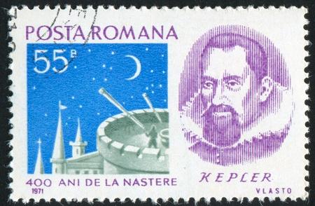 kepler: ROMANIA - CIRCA 1971: stamp printed by Romania, shows Johannes Kepler (1571-1630), circa 1971