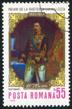 ROMANIA - CIRCA 1970: stamp printed by Romania, shows Alexandru Ioan Cuza (1820-1866), prince of Romania, circa 1970