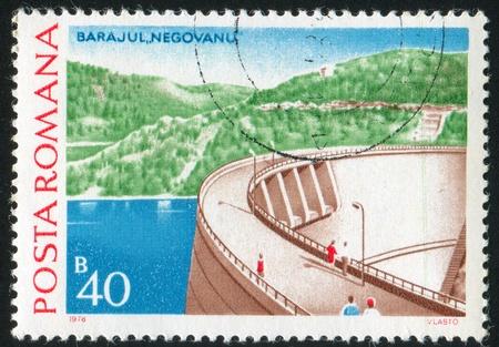 ROMANIA - CIRCA 1978: stamp printed by Romania, shows dam, circa 1978 photo
