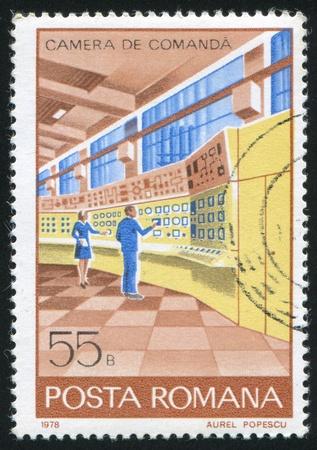 ROMANIA - CIRCA 1978: stamp printed by Romania, shows Computer center, circa 1978 photo