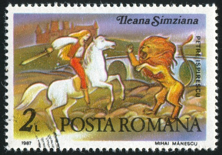 ROMANIA - CIRCA 1987: stamp printed by Romania, shows Scenes from Fairy Tale by Peter Ispirescu, circa 1987