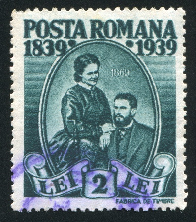 ROMANIA - CIRCA 1939: stamp printed by Romania, shows Prince Carol and Carmen Sylva (Queen Elizabeth), circa 1939 Stock Photo - 10634312