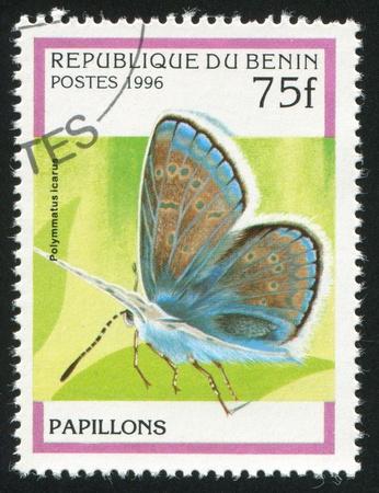 benin: BENIN - CIRCA 1996: stamp printed by Benin, shows butterfly, circa 1996.