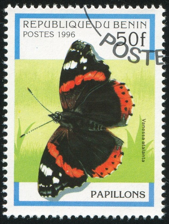 BENIN - CIRCA 1996: stamp printed by Benin, shows butterfly, circa 1996. photo