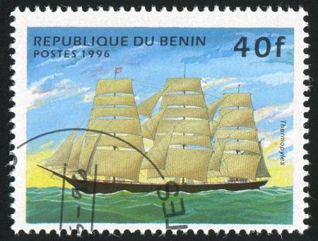 benin: BENIN - CIRCA 1996: stamp printed by Benin, shows Sailing ship, circa 1996. Stock Photo