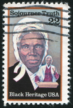 UNITED STATES - CIRCA 1986: stamp printed by United States of America, shows Sojourner Truth, abolitionist, circa 1986
