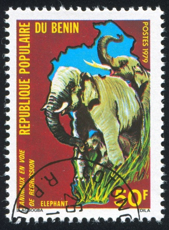 BENIN - CIRCA 1979: stamp printed by Benin, shows elephant, circa 1979. photo