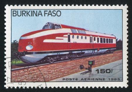 BURKINA FASO - CIRCA 1985: stamp printed by Burkina Faso, shows locomotive, circa 1985. Stock Photo - 10717860