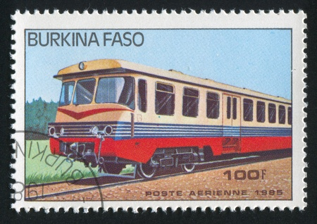 BURKINA FASO - CIRCA 1985: stamp printed by Burkina Faso, shows locomotive, circa 1985. Stock Photo - 10717861