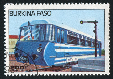 BURKINA FASO - CIRCA 1985: stamp printed by Burkina Faso, shows locomotive, circa 1985. Stock Photo - 10717786