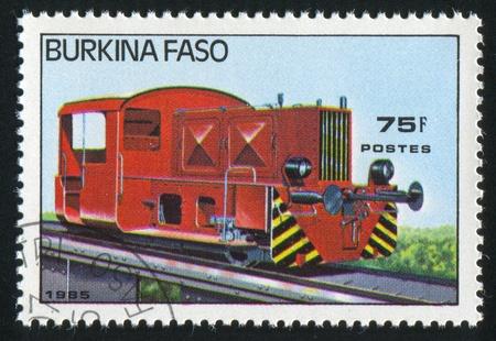 BURKINA FASO - CIRCA 1985: stamp printed by Burkina Faso, shows locomotive, circa 1985. Stock Photo - 10717855