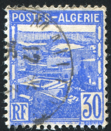 ALGERIA CIRCA 1941: stamp printed by Algeria, shows View of Algiers, circa 1941 Stock Photo - 10754677
