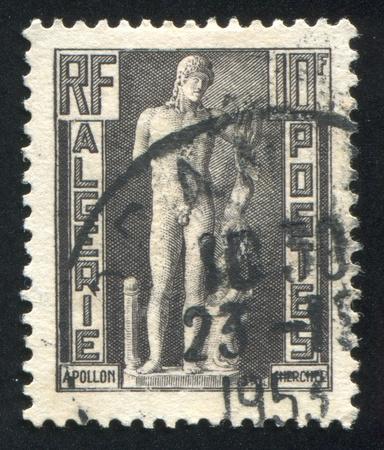ALGERIA CIRCA 1952: stamp printed by Algeria, shows Apollo of Cherchell, circa 1952 Stock Photo - 10755963
