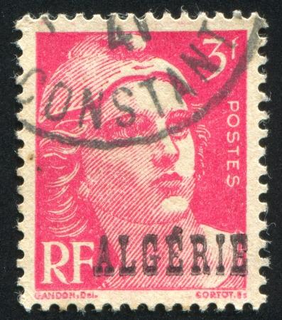 marianne: ALGERIA  CIRCA 1947: stamp printed by France, shows Marianne, circa 1947 Editorial