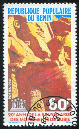 BENIN CIRCA 1980: stamp printed by Benin, shows Ramses II,  circa 1980 Stock Photo - 10792592