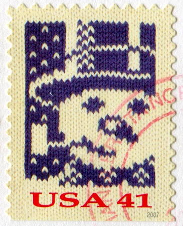 UNITED STATES - CIRCA 2007: stamp printed by United States of America, shows  knit snowman, circa 2007 photo