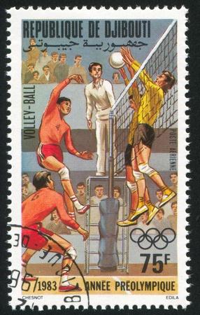 DJIBOUTI - CIRCA 1983: stamp printed by Djibouti, shows Volleyball, circa 1983