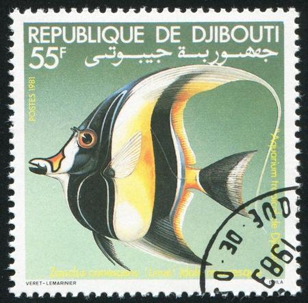 DJIBOUTI - CIRCA 1981: stamp printed by Djibouti, shows toy fish, circa 1981 photo